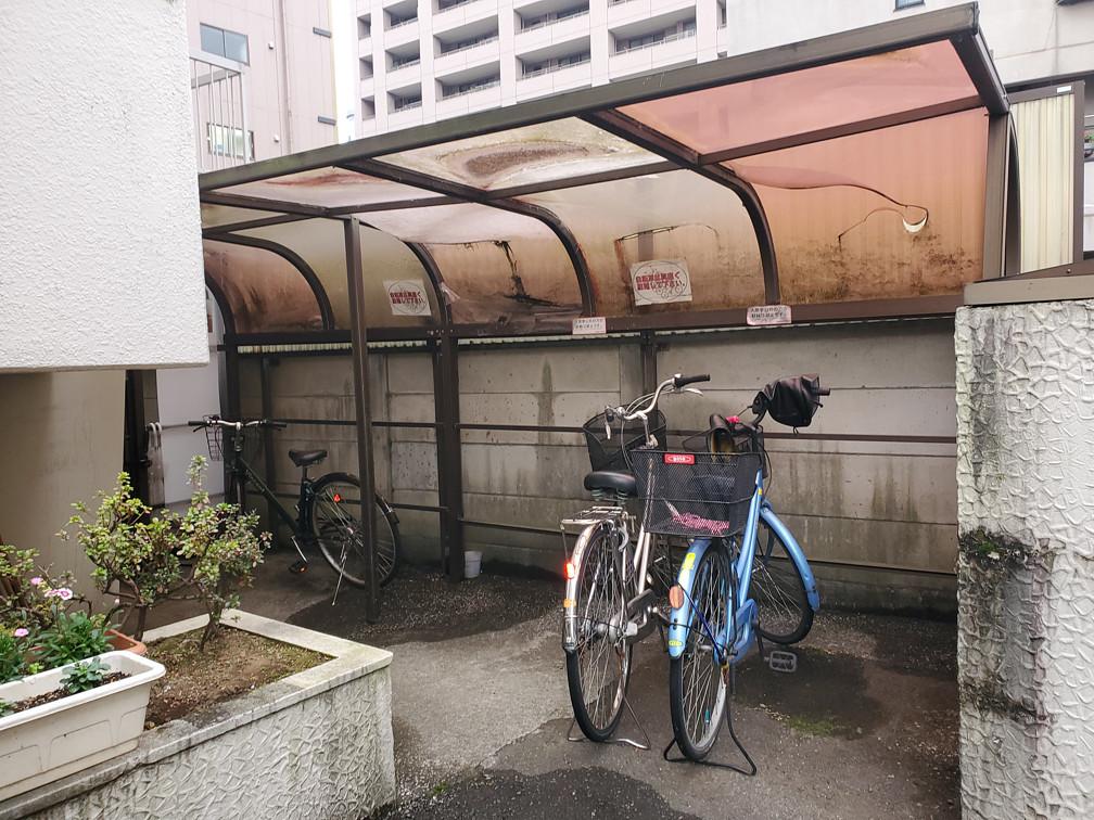 マンションの駐輪場